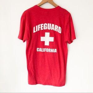 Lifeguard Red T Shirt Size M